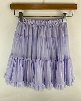 American Apparel Womens Reversible Short Ruffle Lilac Mini Skirt One Size
