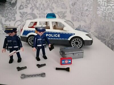 Playmobil City Action 6920 Police Car with Light and Sound Effects for Multi