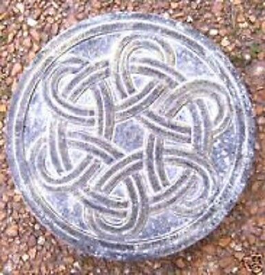 """Deer celtic stepping stone mold plastic casting mould  12/"""" x 1.5/"""" thick"""