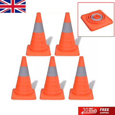 5 Pop-up Traffic Cones Traffic Warning Parking Safety Road Guard Collapsible