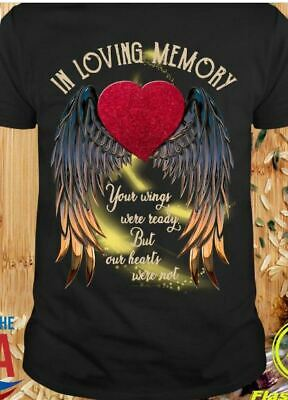 Custom In Memory Of My Dad But Hanes Tagless Tee T-Shirt His Wings Were Ready