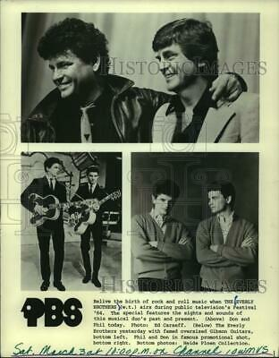 NEW EXCLUSIVE 174 1958 Early ROCK Duo The EVERLY BROTHERS in NEW YORK PHOTO