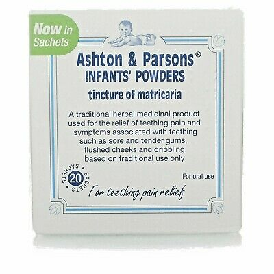 Ashton and Parsons Teething Powders20 SachetsExpiry 02//2022