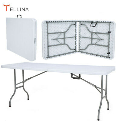 5FT Folding Trestle Table Catering Camping Heavy Duty  Picnic BBQ Indoor Outdoor