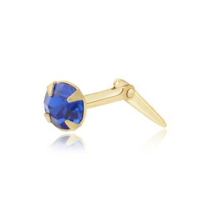 Sterling silver 2mm-3.5mm Andralok topaz crystal nose stud gift box included