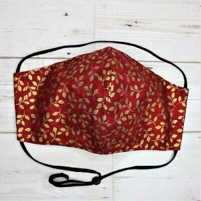 Fabric Face Mask Size XL L,M,S Elastic around head Handmade in UK