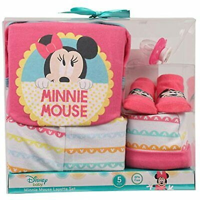 2 Brand New Disney Baby Minnie Mouse 3 pc /& 4 pc Gift Sets Baby Girls 0-3 mos