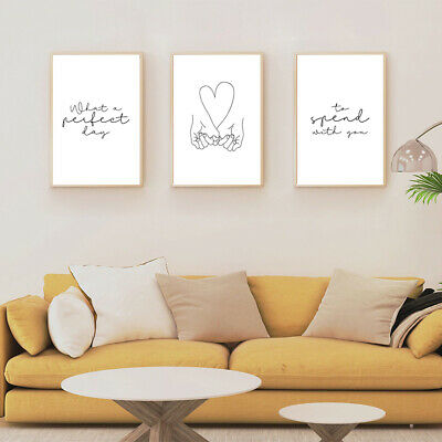 Wall Art Poster Picture Prints Love Romance Couple SET OF 3 A4 BEDROOM PRINTS