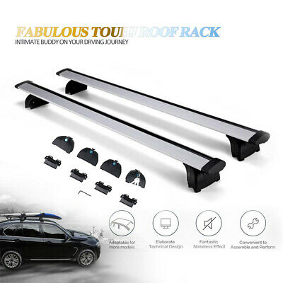 Aintier 2Pcs Aluminum Cross Bar Roof Rack Compatible with 2009-2017 Audi Q5,2010-2017 BMW X1,2011-2016 BMW X3,2015-2016 BMW X4 Roof Top Rail Rack Crossbar Luggage Cargo Carrier Roof Rack Set