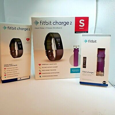 extra Blue Band Large Black Fitbit Charge 2 Fitness Activity Tracker FB407