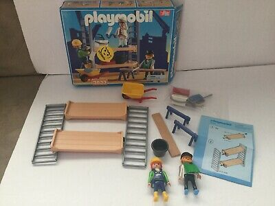 BROWN EASEL BRUSH PAINT BOX Playmobil accessories PAINTING PALETTE