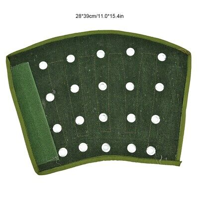 1 Pair Green Steel Strip + Denim Thickened Sweat-absorbent Arm Sleeve Guard