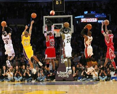 KOBE BRYANT - MICHAEL JORDAN - LEBRON JAMES - WADE - IVERSON 8 x 10 Photo Poster