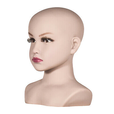 Professional White Skin Bust Child Mannequin Head Display Hats Scarfs for Kids