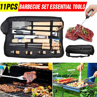 Meat Fork, Tongs DIMEL Stainless Steel BBQ Grill Set with Multi-Use Spatula