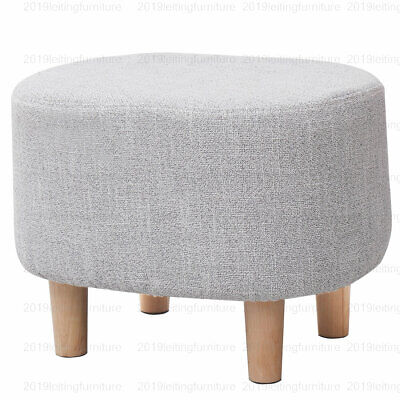Seat Footrest Pouffe Footstool Stool Padded Ottoman Fabric Lounge Sofa Decor