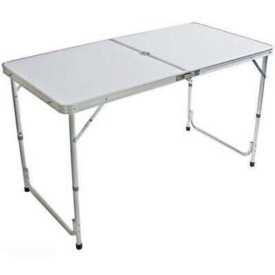 4Ft Camping Catering Heavy Duty Folding Table Trestle Picnic Bbq Party Desk Uk