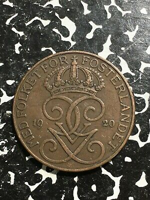 SWEDEN    50 Ore   1920  COMBINED SHIPPING .10 Cents USA  .29 INTERNATIONAL