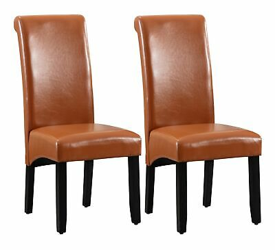 Modern Leather Tufted Dining Chairs Set Of 2 Upholstered Seat Waterproof Kitchen 105 00 Picclick