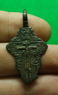 Ancient bronze cross 13-16 century Kievan Rus Vikings