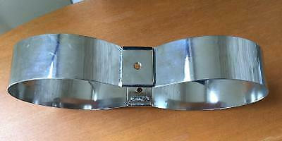 """2 Double Scuba Tank Bands stainless steel OMS 8/"""" Doubles without hardly"""