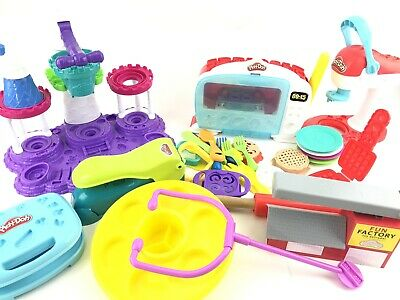 Huge Lot Of Play Doh Kitchen Magical Oven Baking Dishes Molds Spinning Treats 20 83 Picclick Uk