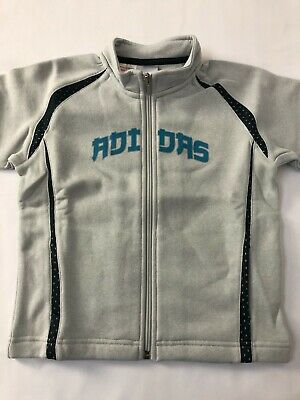 ADIDAS Girls Full Zip Sweatshirt/Tracktop/Jacket Soft Fabric Age 4 Years