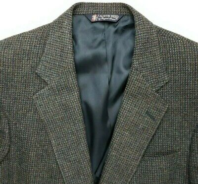 Austin Reed Regent Street Mens Tweed Jacket Pure Virgin Wool Blazer Sport Coat 14 95 Picclick