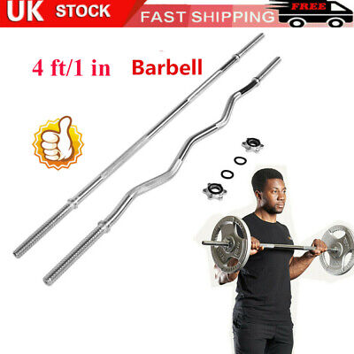 4ft Straight Barbell Weight Bar Training//Lifting Gym Tricep bicep Bar EZ 1/'/' UK