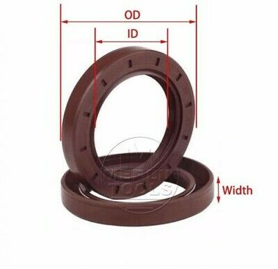 Select Size ID 45 - 50mm TC Double Lip Fluororubber Oil Shaft Seal with Spring