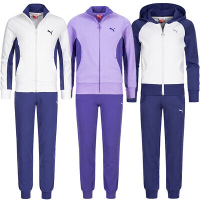 PUMA Suit Mädchen Running Sport Fitness Mode Trainings Jogginganzug violett neu