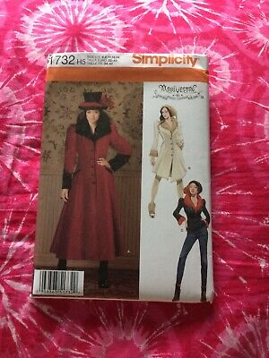 Simplicity ArkiVestry Designs Pattern 1732 Misses Coat and Jacket 2 Lengths Sizes 6-8-10-12-14