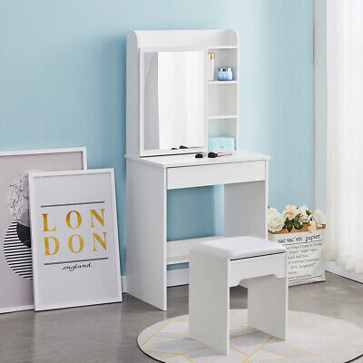 Small White Dressing Table With Stool, Redstone Dressing Table With Stool And Mirror White