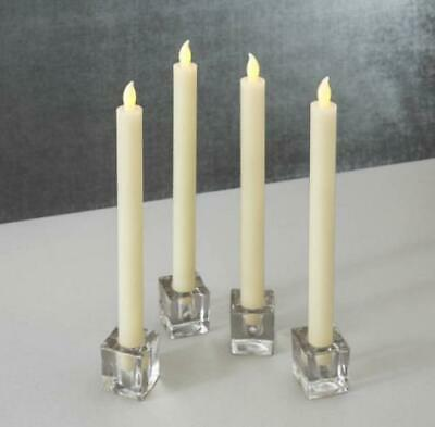 """(Set of 4) LED Taper Candles Flameless Flickering, 10"""" Tall (BATTERIES INCLUDED)"""
