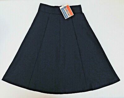 "Girls vintage skirt Banner school uniform Navy Blue UNUSED 1970s Waist 26"" B"