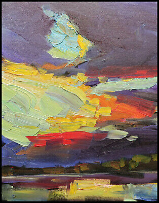 Original 20x10 Painting Restless Minds Stretched Canvas Gloss Finish