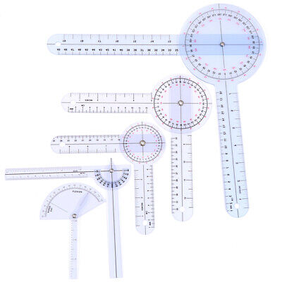 1Pcs Medical Spinal Ruler Finger Goniometer Angle Protractor 12/8/6 Inch RNWU^CR