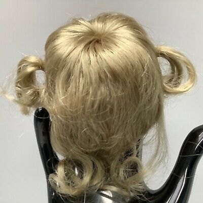 Hand Styled Doll Wig Global Dolls Chaya 12-13 Blonde Hair Pony Tails NOS