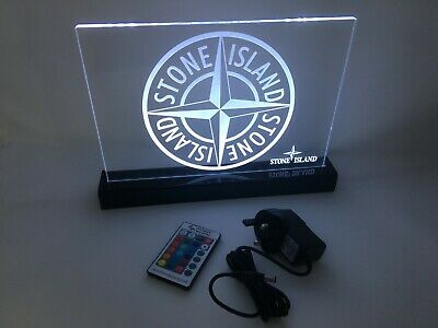 multi colour function. Remote controlled Stone Island LED sign