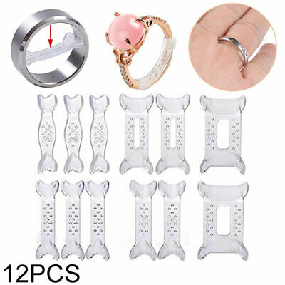 12/Set Invisible Design Ring Size Reducer Resizer Clip Guard Snuggies Adjuster
