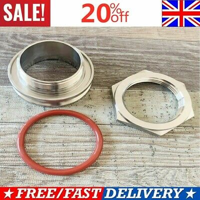 """Stainless Steel 2/"""" Triclamp Adapter Tri-Clamp Weldless Bulkhead Fitting Durable"""