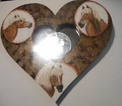 Haflinger Horses Hand Painted Decorative Mirror Wall home Decor
