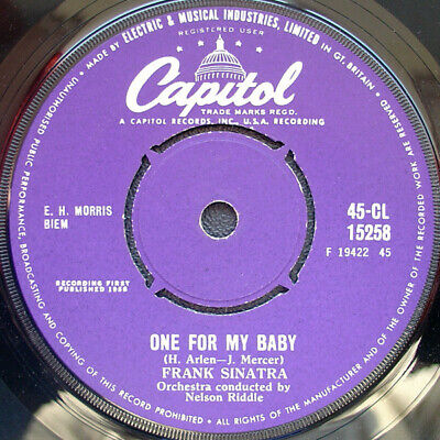 """Frank Sinatra - One For My Baby / Willow Weep For Me (7"""")"""
