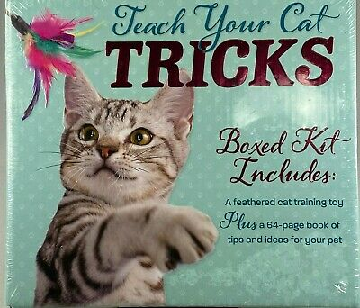 Teach Your Cat Tricks! Boxed Kit - 64 Page Step By Step Book, + Cat Training Toy