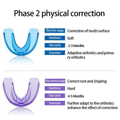 2Pcs×Dental Orthodontic Appliance Tooth Retainer Teeth Corrector Trainer Br B3_N