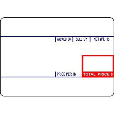 """CAS LST-8010 Printing Scale Label, 58 x 40 mm, UPC """"36 ROLLS"""" Per Case. Lower 12"""