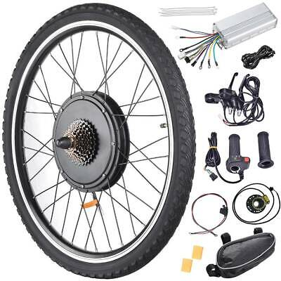 """26"""" 48V 1000W/1500W Electric Bicycle Front/Rear Wheel Ebike Motor Conversion Kit"""