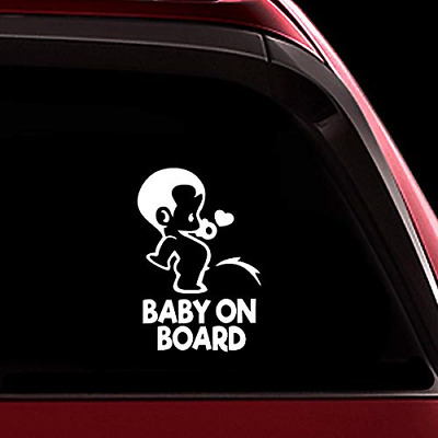 TOTOMO Baby on Board Sticker - Funny Cute Safety Caution Decal Sign for Cars and