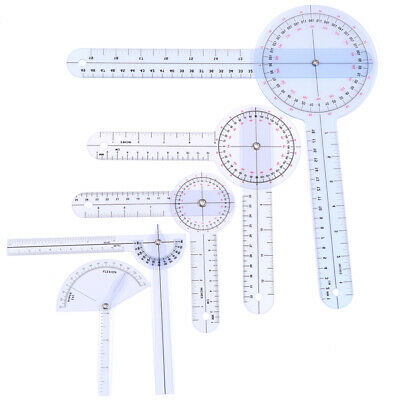 1Pcs Medical Spinal Ruler Finger Goniometer Angle Protractor 12/8/6 Inch RNWU^fi