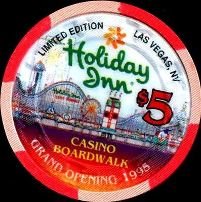$5 Las Vegas Holiday Inn Boardwalk Grand Opening Casino Chip- UNCIRCULATED